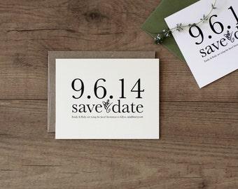 Printable / Storybook Romance Wedding Save the Date / (DIY)