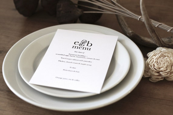 Printable Storybook Romance Menu Card / (DIY)