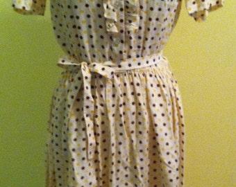 REDUCED: 1950s Polka Dot Dress