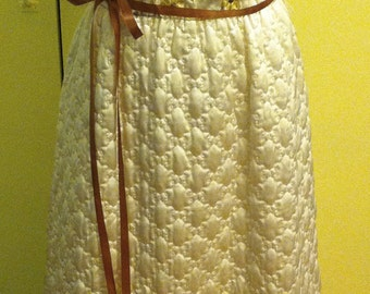 REDUCED - 1970s Quilted Sleeveless Gown - Perfect for Prom!