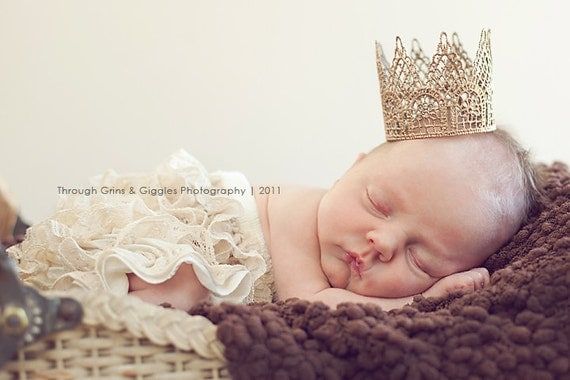 Newborn Crown-Baby Crown-Photography Prop-Baby Shower Gift-Infant Crown-Gold Crown-Silver Crown-Photo Prop-Handmade Crown-Tiara