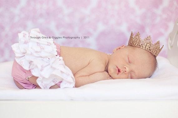 Newborn Crown-Baby Crown-Photography Prop-Baby Shower Gift-Infant Crown-Gold Crown-Silver Crown-Photo Prop-Handmade Crown-Tiara
