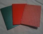 Set of 10 colorful mini notebooks