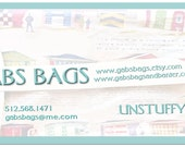 Special Order Gabs Bags Business Card