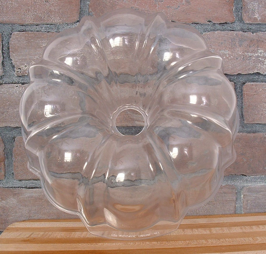 Vintage Microwave Bundt Cake Pan Clear Jello Mold See