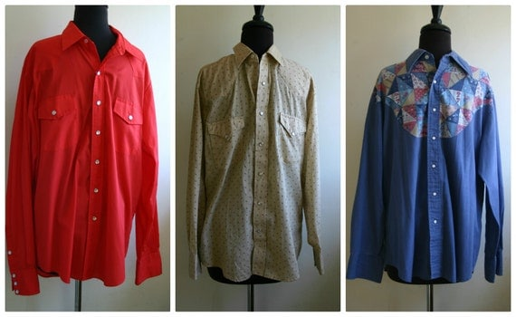 Lot of 3 Western Shirts