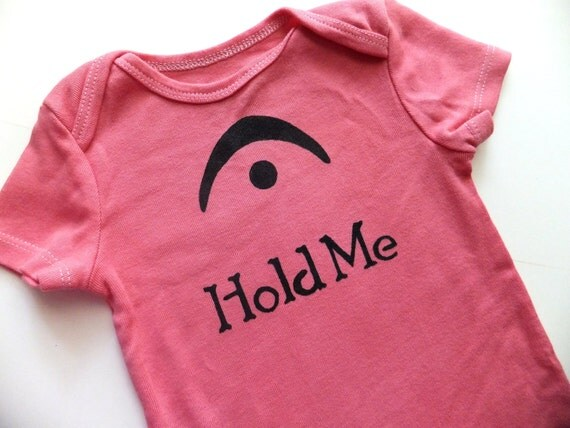 I'm a Fermata Hold Me (Black on Dusty Rose Onesie) - 3-6M Baby Bodysuit