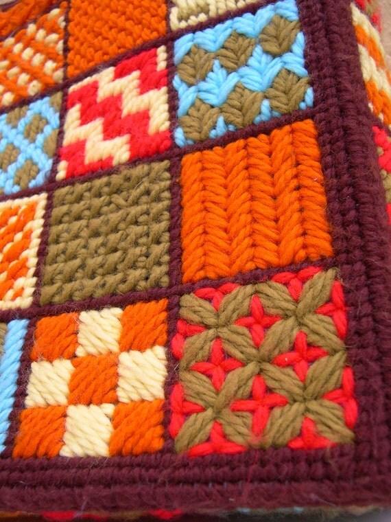 1970s Cross Stitch  Purse