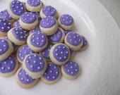 Lavender polka dot mini sugar cookies 6 dozen