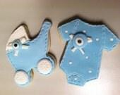 Ediple Fondant Baby Shower Cookies, Baby shower set cookies 1 dozen