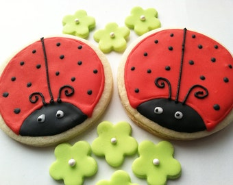 Ladybug Sugar Cookies, 1 dozen