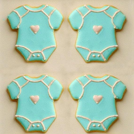 baby onesie sugar cookies baby shower cookies 1 dozen