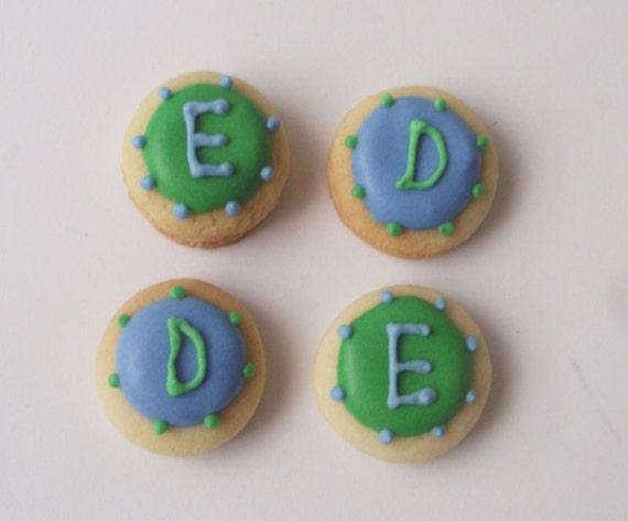Tiny Monogram Sugar Cookies, 6 dozen