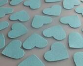 Wedding Tiffany Blue Heart Confetti Die Cuts 100