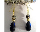 15% Discount Black Rain - Black & Gold Earrings - Free Shipping