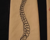 Spine Embroidered Tea Towel