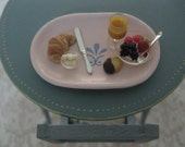 Continental Breakfast with Shabby Chic Tray  - 12th Scale Miniatures