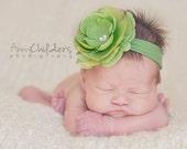 Lime Green Baby Headband