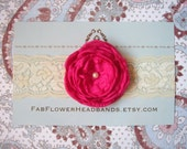 Pink Flower Headband - All Sizes
