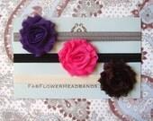 Set of Three Shabby Headbands - Baby Headbands - Girl Headbands - All Sizes