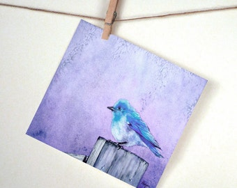 Bluebird Stationery Set - Note Cards or Greeting Cards - Bird Fine Art