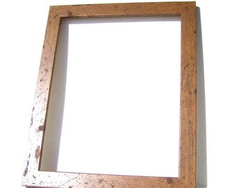 Rustic Brown Wood Picture Frame - Home Decor - Custom Framing