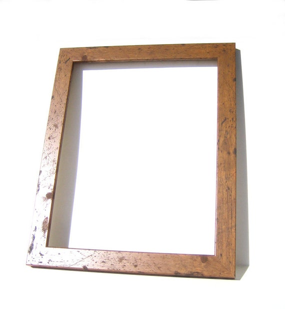 rustic brown wood picture frame home decor custom framing