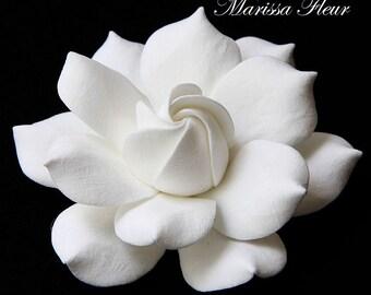 Bridal Fascinator, Lifelike Gardenia Flower Wedding Fascinator, Bridal Hair Accessories, Wedding Hairpiece, Bridal Hairpiece, Head Piece