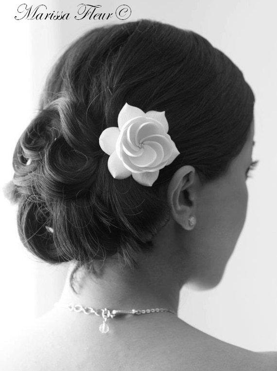 Bridal Fascinator, Bridal Hair Fascinator, Gardenia Hair Fascinator, Wedding Fascinator, Bridal Hair Accessory, Gardenia Hair Clip, Hair Pin
