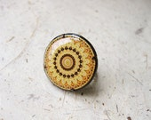 FREE WORLDWIDE SHIPPING - Saffron Yellow Oversized Adjustable Ring