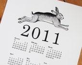 2011 CALENDAR - year of the rabbit, a4 print
