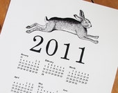 2011 CALENDAR - year of the rabbit, a4 print