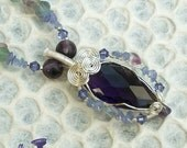 RESERVED: Custom Order for Esperian Wire Wrapped Tanzanite Crystal Pendants