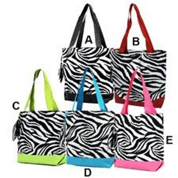 Zebra Print Tote Bag 108