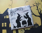 Primitive Halloween Sign Witch Witches Cauldron