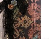 OOAK Neo Victorian Write Damask Journal Goth Shabby