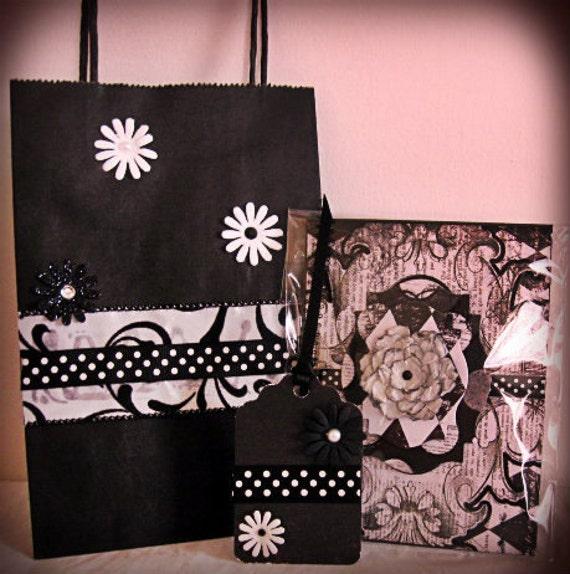 Vampire Gift Set Greeting card Bag Hang Tag by Vampiregothchick Goth Dark Romantic