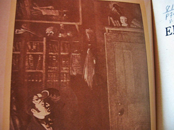 Antique Books Set of Poe The Raven 1903 with Sepia Prints Collectible