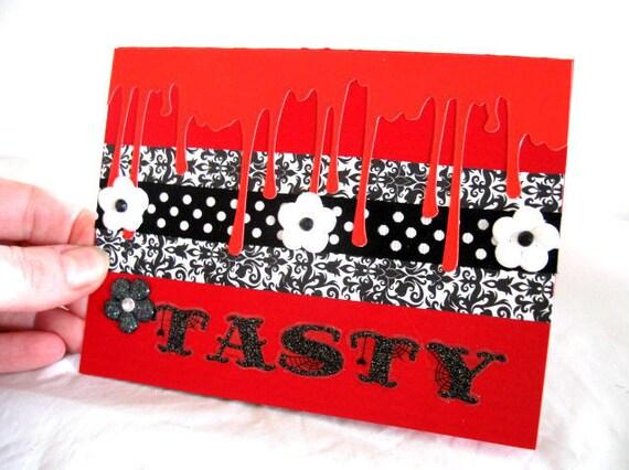 Vampire Greeting card Tasty Blank Gothic by Vampiregothchick Goth Dark Romantic