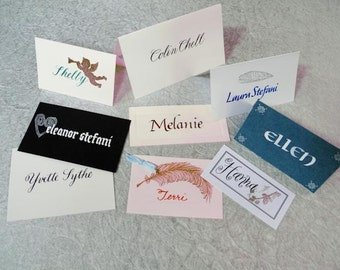 Customized Calligraphy Placecards