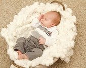 Puff Blanket Newborn Photography Prop 2x2 Baby Photo Prop. 'Marshmallow' PuffPelt Infant Texture Rug