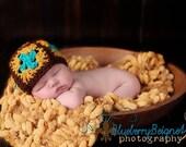 Mustard Yellow Baby Blanket Infant Photography Prop. Popcorn Photo Prop Newborn Pom Texture 'Golden'