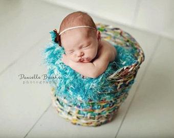 Turquoise Blanket Props Newborn Photography Props Handmade - Baby Children