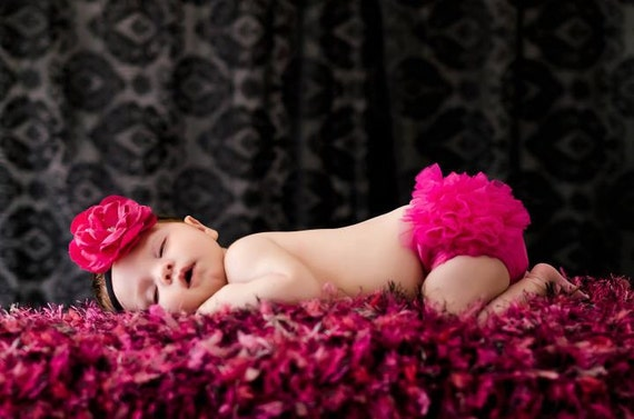 Girls Photo Prop 2x2 Baby Blanket. Dark Pink, Black, White Hot Pink Photography Prop  'Punkette' PuffPelt Texture Mini Rug