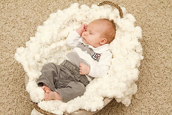 Puff Blanket Newborn Photography Prop 2x2 Baby Photo Prop. 'Marshmallow' PuffPelt Infant Texture Rug