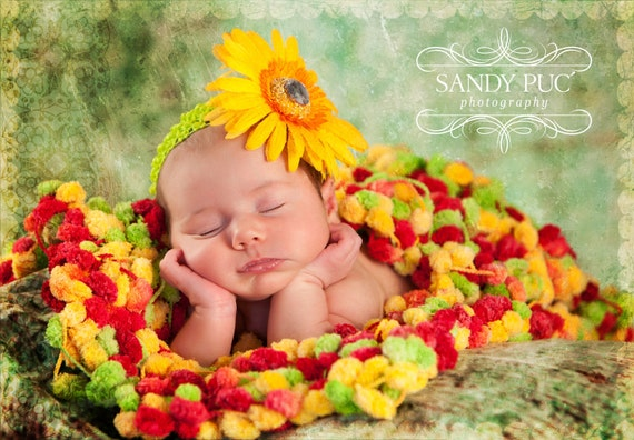 Sandy Puc Photos of my Photo Prop Infant Baby Colorful Mini Blanket Prop. 2x2 'Cirque' Photography Prop Rug