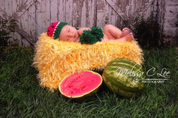 Barn Prop Baby Blanket Looks Like Farm Straw Yellow Hay Bale or Haystack Haybale