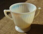 Vintage Opalescent Depression Glass Sugar Bowl