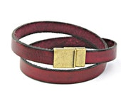 Reserved list for  TododePaula - 5 leather bracelets double wrapped with magnetic clasp