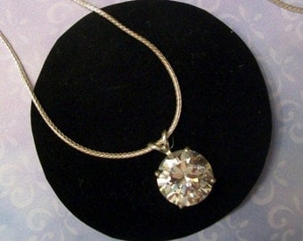 White Cubic Zirconia - CZ - Necklace - Sterling Silver
